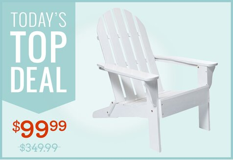 Solid-Wood Adirondack Chair