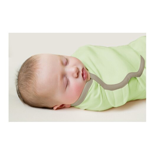 Summer Infant SwaddleMe Organic Cotton Knit Blanket in Zoo / Sage 2 Piece Set