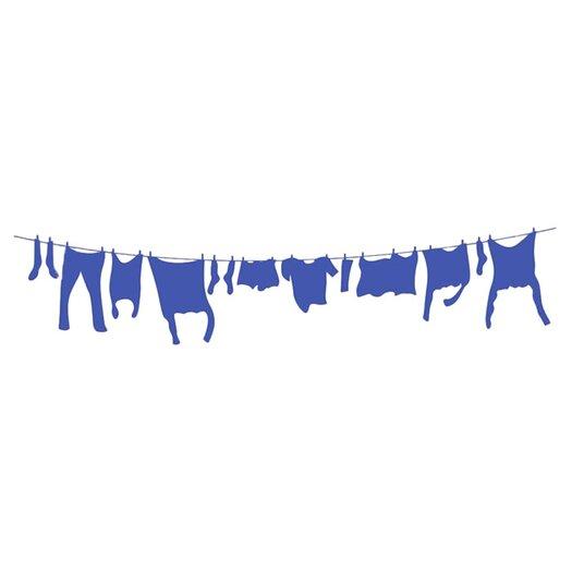 Alphabet Garden Designs Laundry Line Vinyl Wall Decal