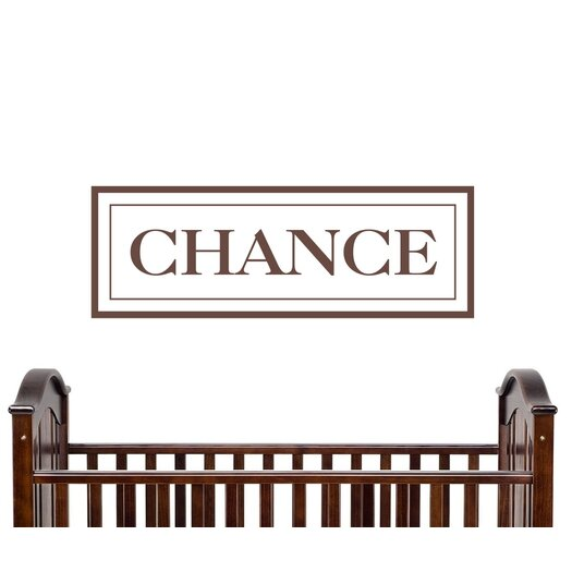Alphabet Garden Designs Personalized Chance Wall Decal