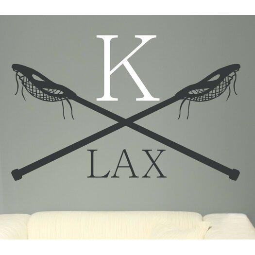 Alphabet Garden Designs Personalized Lacrosse LAX Monogram Vinyl Wall Decal