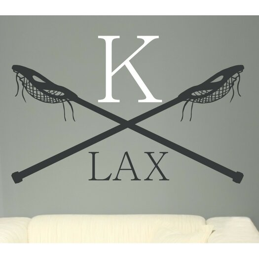 Alphabet Garden Designs Personalized Lacrosse LAX Monogram Vinyl Wall Decal