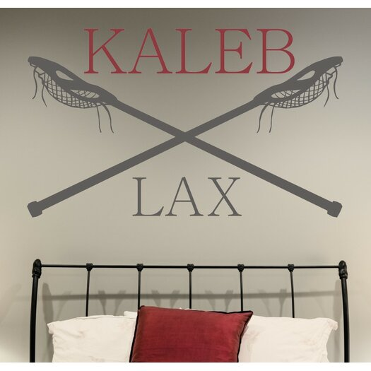 Alphabet Garden Designs Personalized Lacrosse Name LAX Vinyl Wall Decal