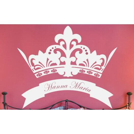 Alphabet Garden Designs Personalized Royal Crown Wall Decal