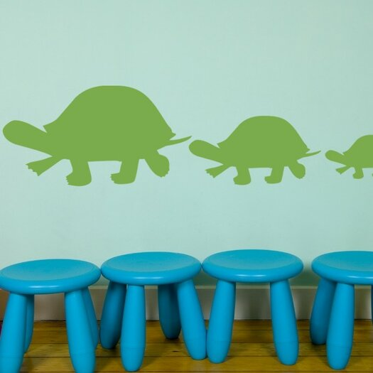 Alphabet Garden Designs Turtle Family Vinyl Wall Decal