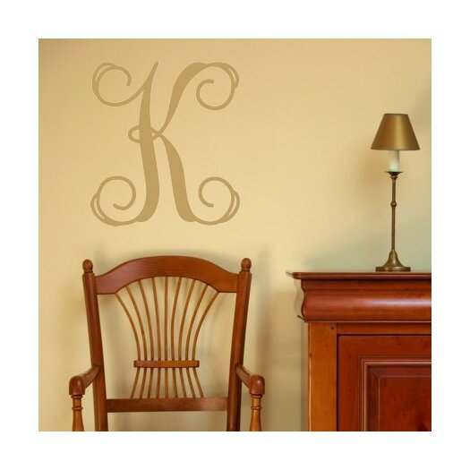 Alphabet Garden Designs Personalized Single Fancy Monogram Wall Decal
