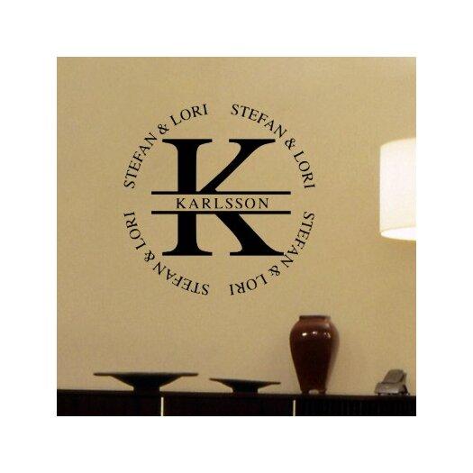 Alphabet Garden Designs Personalized Karlsson Monogram Wall Decal