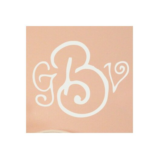 Alphabet Garden Designs Personalized Curly Whirly Monogram Wall Decal