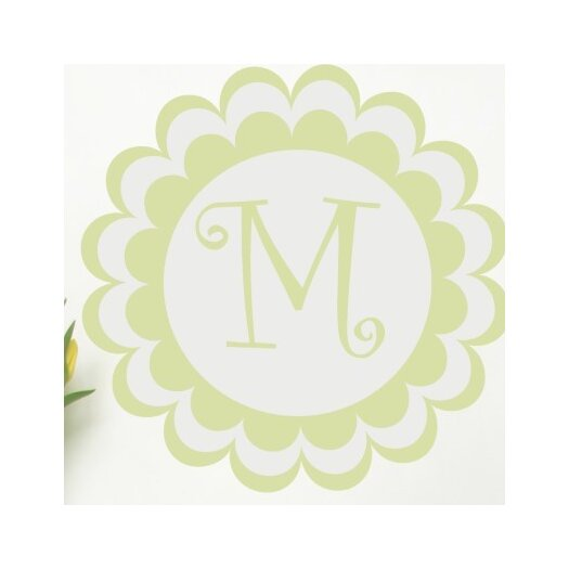 Alphabet Garden Designs Personalized Bloomster Monogram Wall Decal