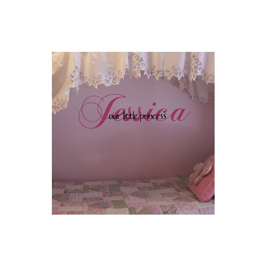 Alphabet Garden Designs Personalized Our Little Princess / Prince Wall Decal