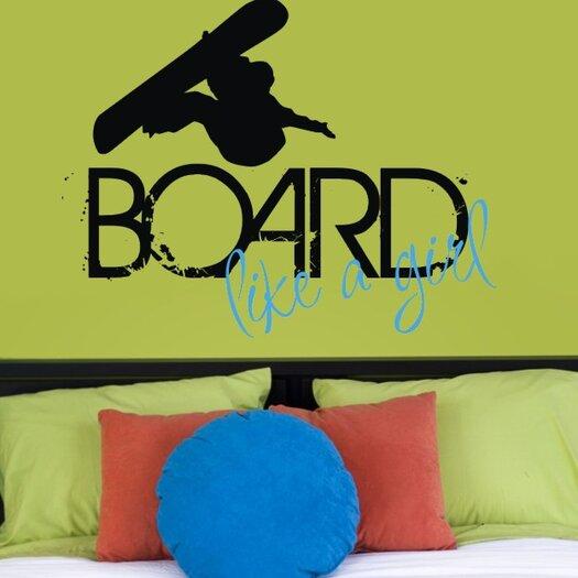 Alphabet Garden Designs Board Like a Girl Wall Decal
