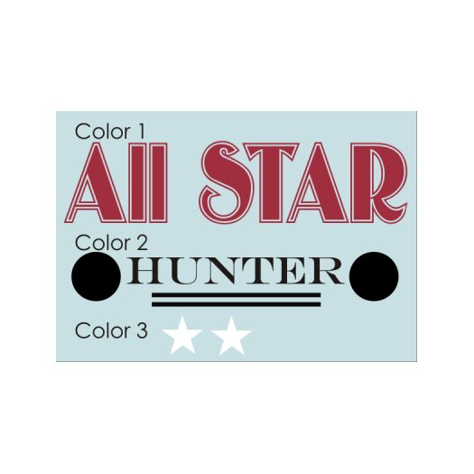 Alphabet Garden Designs Personalized All Star Wall Decal
