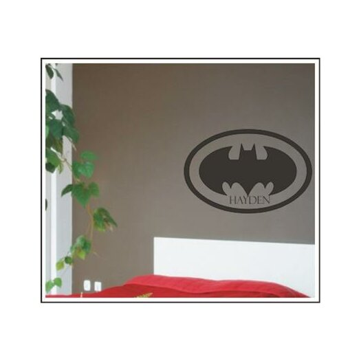 Alphabet Garden Designs Personalized Batman Wall Decal