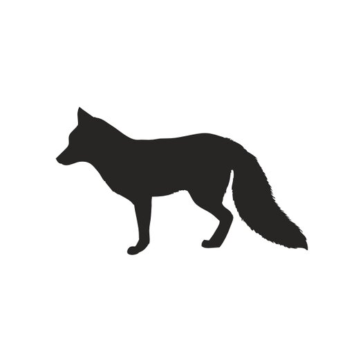 Forest Critter Chalkboard Fox Vinyl Wall Decal