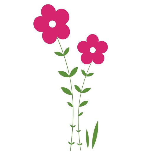 Double Flower Vine Wall Decal