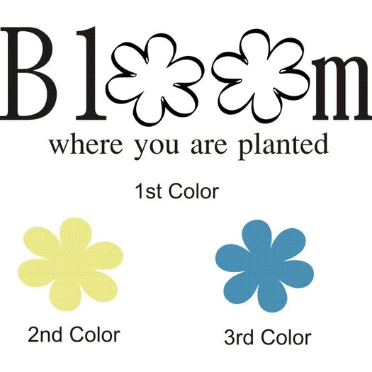 Alphabet Garden Designs Bloom Where Planted Wall Decal
