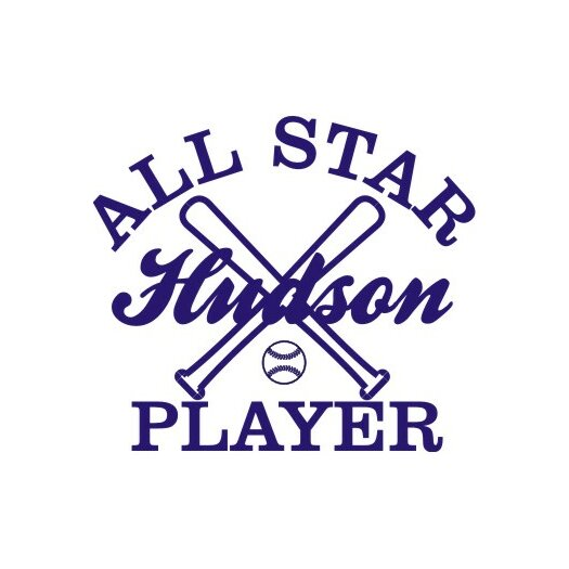 Alphabet Garden Designs Personalized All Star Player Wall Decal