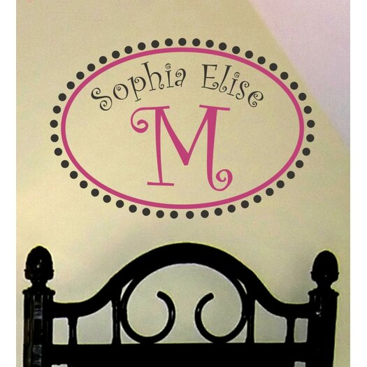 Alphabet Garden Designs Personalized Whimsical Monogram Wall Decal