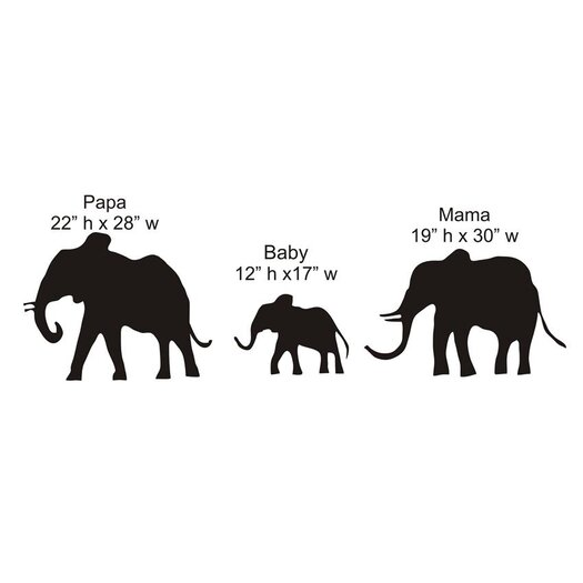 Elephant Family Chalkboard Wall Decal