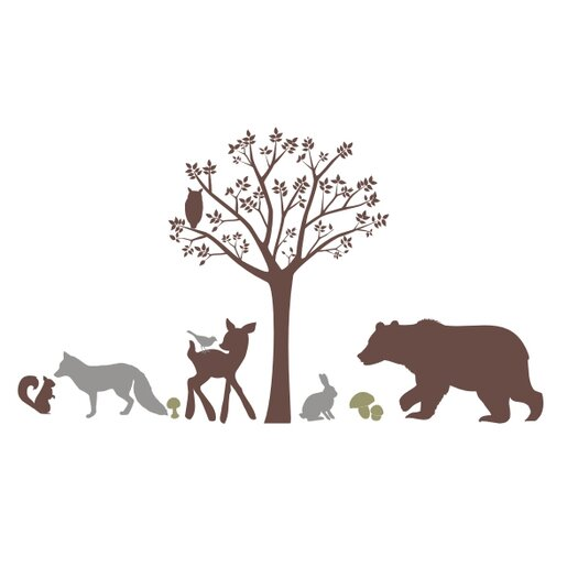 Forest Critters Wall Mural Vinyl Wall Decal