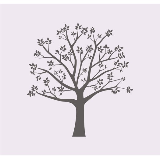 Alphabet Garden Designs Blossoming Tree II Vinyl Wall Decal