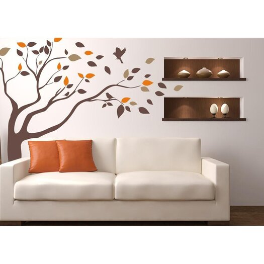 Windblown Tree Vinyl Wall Decal