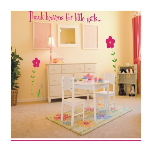 Alphabet Garden Designs Thank Heavens For Little Girls / Boys Wall Decal