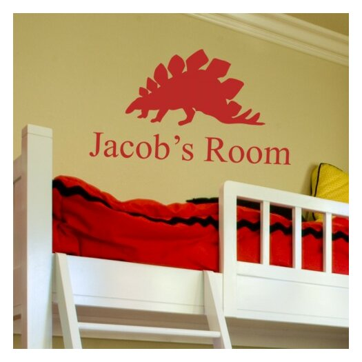 Alphabet Garden Designs Jacob's Room Personalized Wall Decal