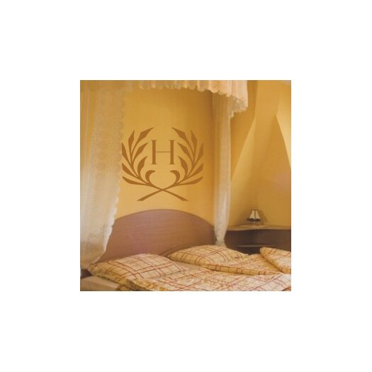 Feathered Monogram Wall Decal