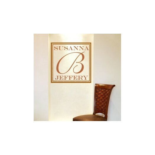 Classic Square Monogram Wall Decal