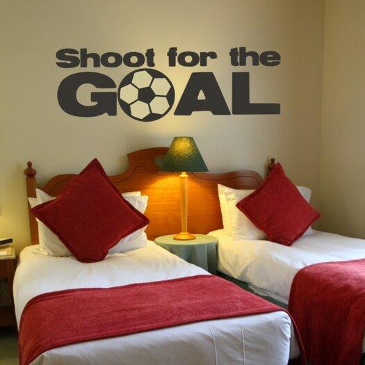 Alphabet Garden Designs Shoot for the Goal Wall Decal
