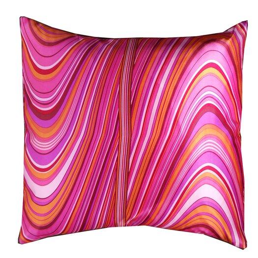 Jiti Psychedelic Square Silk Decorative Pillow