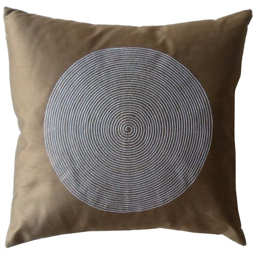 Jiti Spiral Silk Square Decorative Pillow