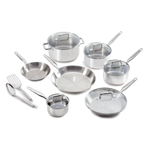T-fal Ultimate Stainless Steel 12-Piece Cookware Set