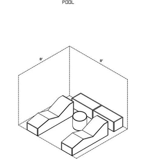 La-Fete Pool 6 Piece Lounge Seating Group