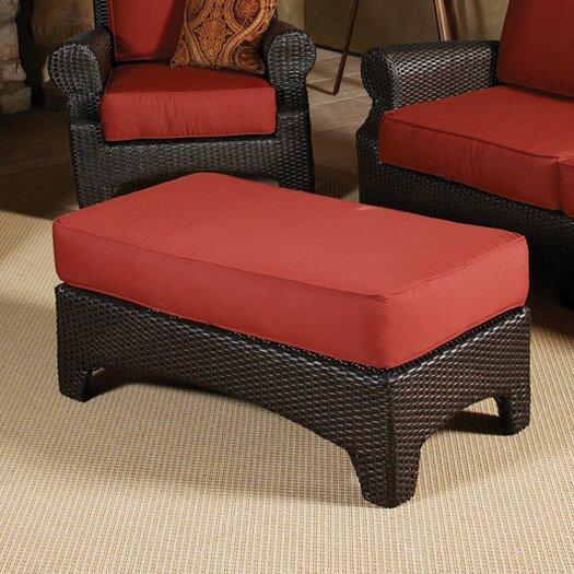 Sunset West Santa Barbara Ottoman with Cushion