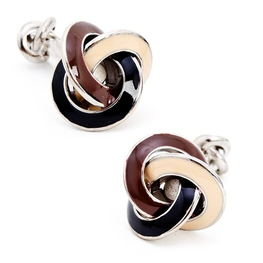 Ox and Bull Double Ended Knot Cufflinks