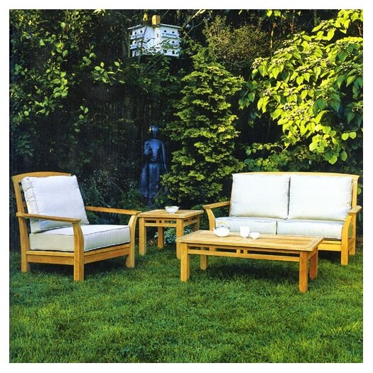 Kingsley Bate Mandalay Deep Seating Settee with Cushions