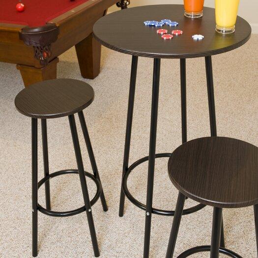 LumiSource Zella 3 Piece Pub Table Set