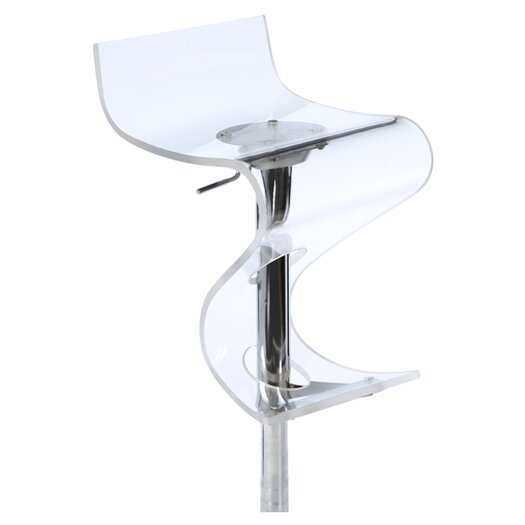 LumiSource Curve Adjustable Height Barstool