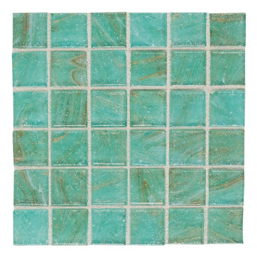 "Daltile Elemental Glass 3/4"" x 3/4"" Mosaic Tile in Mint Julep"