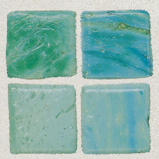 "Daltile Sonterra 1"" x 1"" Glass Opalized Mosaic Tile in Verde"