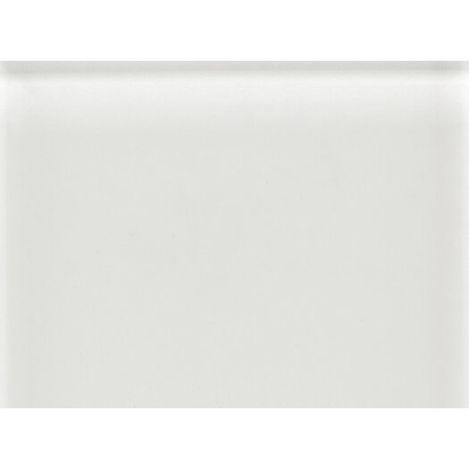 """Daltile Glass Reflections 11-1/2"""" x 15-1/2"""" Frosted Random Interlocking Accent in White Ice"""