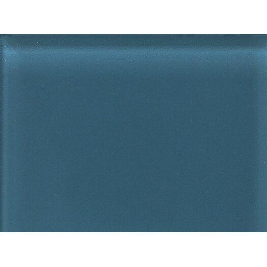 "Daltile Glass Reflections 11-1/2"" x 15-1/2"" Glossy Random Interlocking Accent in Twilight Blue"