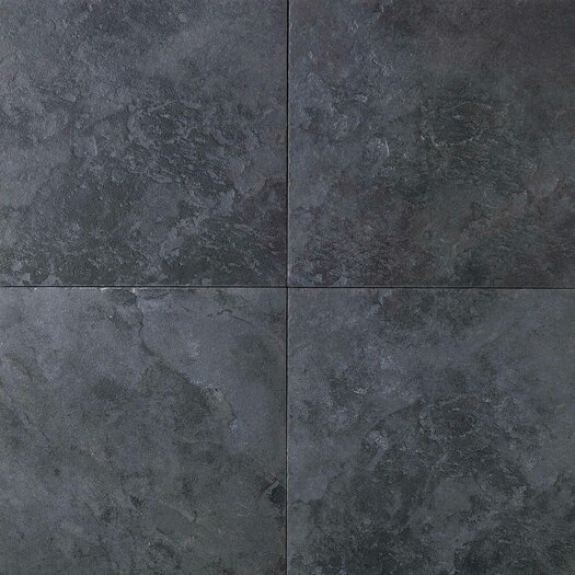 "Daltile Continental Slate 18"" x 18"" Field Tile in Asian Black"