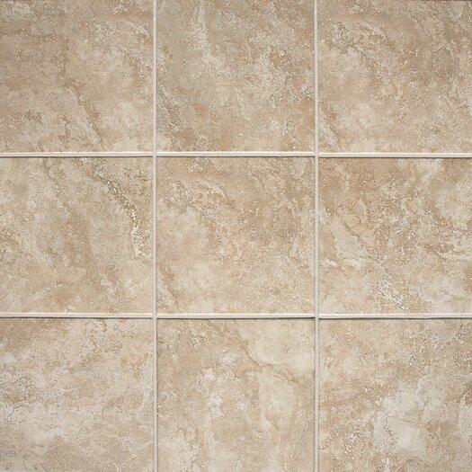 "Daltile Del Monoco 13"" x 13"" Glazed Field Tile in Carmina Beige"