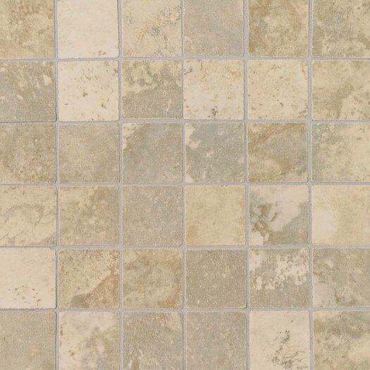 """Daltile Pietre Vecchie 2"""" x 2"""" Mosaic Field Tile in Champagne"""