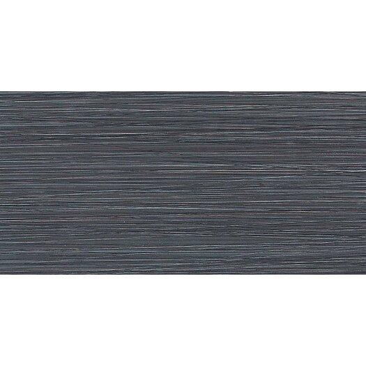 """Daltile Fabrique 12"""" x 24"""" Polished Field Tile in Noir Linen"""