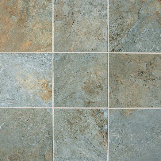 "Daltile Franciscan Slate 18"" x 18"" Unpolished Field Tile in Coastal Azul"