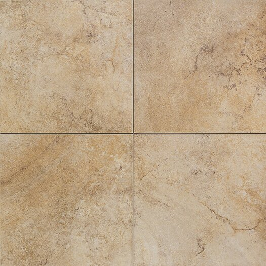"Daltile Florenza 18"" x 18"" Plain Floor Tile in Oliva"